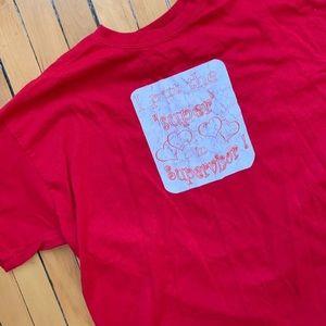 ++ [vintage] • red funny supervisor t-shirt ++